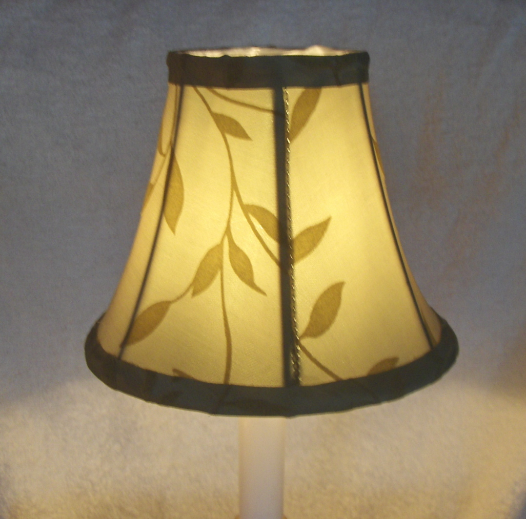 New SAGE w/ FELT LEAVES  Chandelier or Candle Lamp Shade
