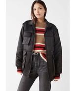 URBAN OUTFITTERS Women's Dawson Bomber Puffer Jacket, Sz S, Black $99 - $69.29