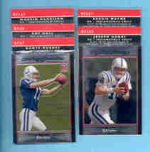 2007 Bowman Chrome Indianapolis Colts Football Team Set  - $5.00