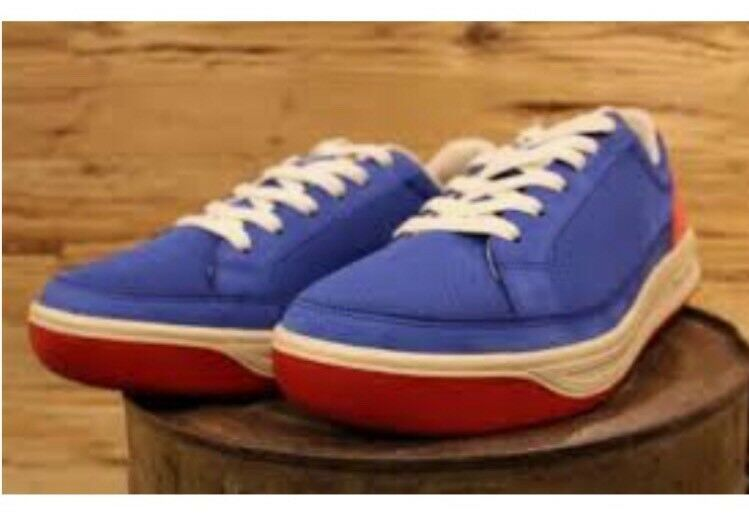 Lacoste ARDEUR Trainer Sneaker Blue Red Beige 1951 Collection Size 11 NEW