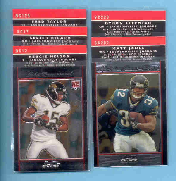 2007 Bowman Chrome Jacksonville Jaguars Football Team Set