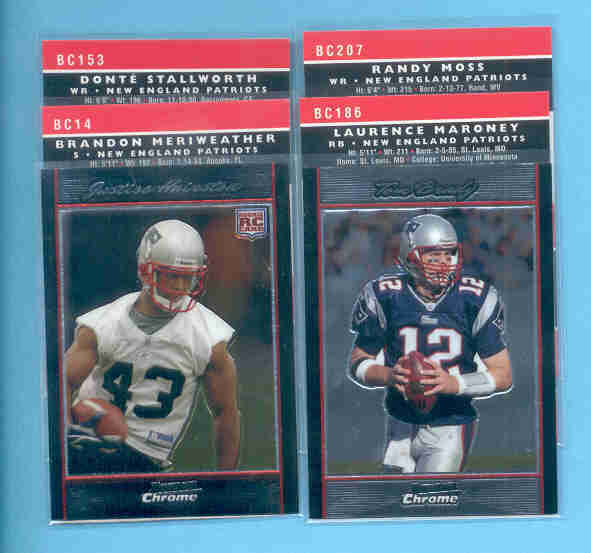 2007 Bowman Chrome New England Patriots Football Set