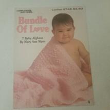 Bundle of Love Leisure Arts 2745 7 Baby Afghans patterns VTG - $7.68