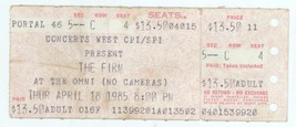 THE FIRM 4/18/85 Altanta The Omni Concert Ticket Stub! Jimmy Page Led Ze... - $11.87