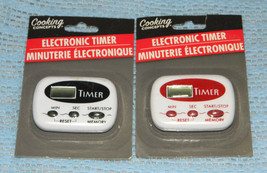 New 2 Cooking Concepts Brand Electronic Kitchen Timers with Minutes and ... - $7.66