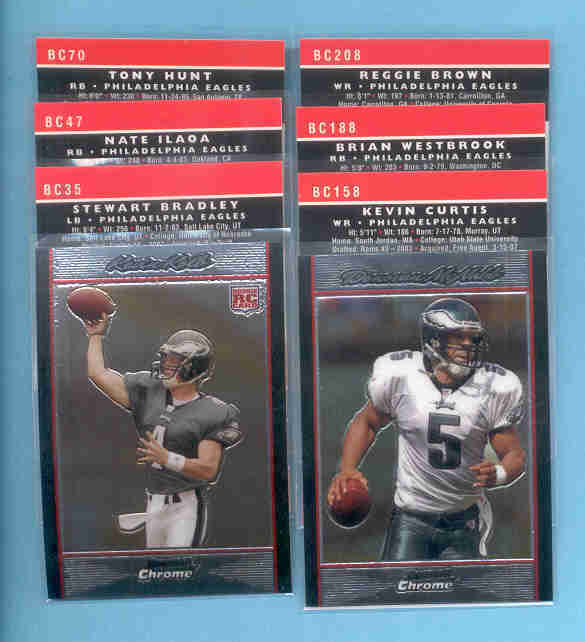 2007 Bowman Chrome Philadelphia Eagles Football Set