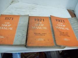 1971 Ford Car  Shop Manual Volume 1, 3 & 5 Original Factory Service Repair - $22.72