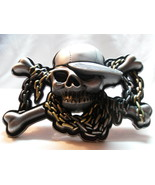 BELT BUCKLE - Skull & Crossbones Rapper Lid - $18.00