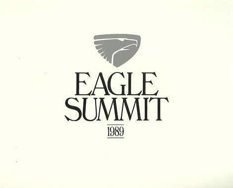 1989 Eagle SUMMIT sales brochure catalog US 89 ES DL LX DOHC