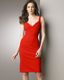 DIANE von FURSTENBERG BENNY Dragon Red Dress-US10-UK14