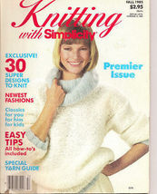 Knitting with Simplicity Premier Issue Fall 1985 30 Designs - $5.50