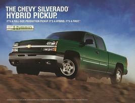 2005 Chevrolet SILVERADO HYBRID sales brochure sheet 05 Chevy - $7.00