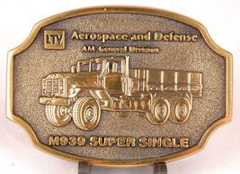 M939 SUPER SINGLE Belt Buckle-LTV Aerospace & Defence-AM General Divisio... - $25.23