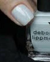 Deborah Lippmann Nail Lacquer Nail Polish in Misty Morning (Sheer Blue Gray)! - $6.58