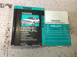 1989 Toyota Celica Service Repair Shop Workshop Manual Set W Wiring Diagram EWD - $118.75