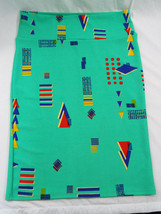 Womens LuLaRoe Cassie Skirt XL XLarge  Green Blue Red Yellow Abstract NWT - $36.17