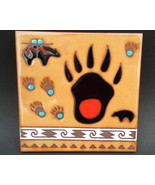 Bear Paw Masterworks Handcrafted Art Tile Trivet - $18.95