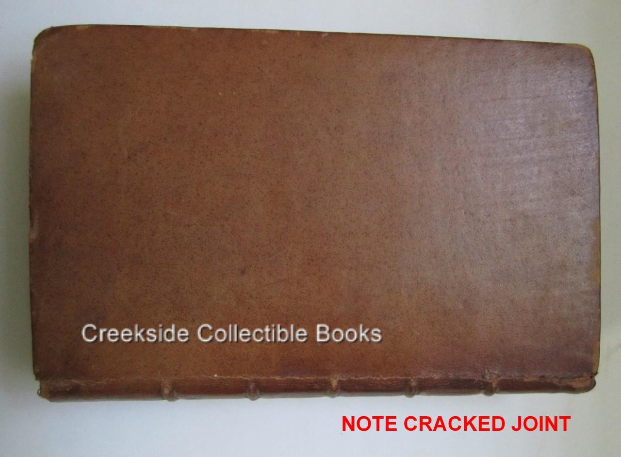 Rare 1795 Brookes Gazetteer-Geographical Dictionary Leather