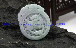 Free Shipping - Amulet white jade Dragon Carved Dragon Round shape charm... - $19.99