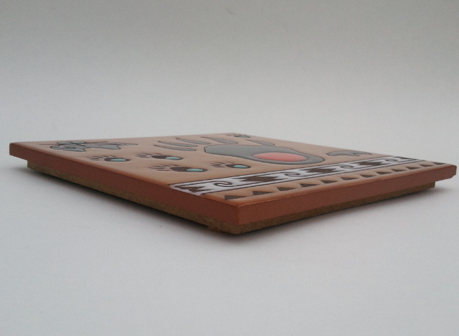 Bear Paw Masterworks Handcrafted Art Tile Trivet