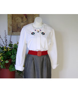 Christmas Blouse Cotton White - $21.00