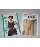 VTG BUTTERICK 4608 Vest, and VTG SIMPLICITY 8185 Pants - $7.50