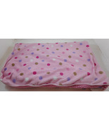 "Just Born Pink Baby Blanket Polka Dot Sherpa 28"" x 36"" - $29.99"