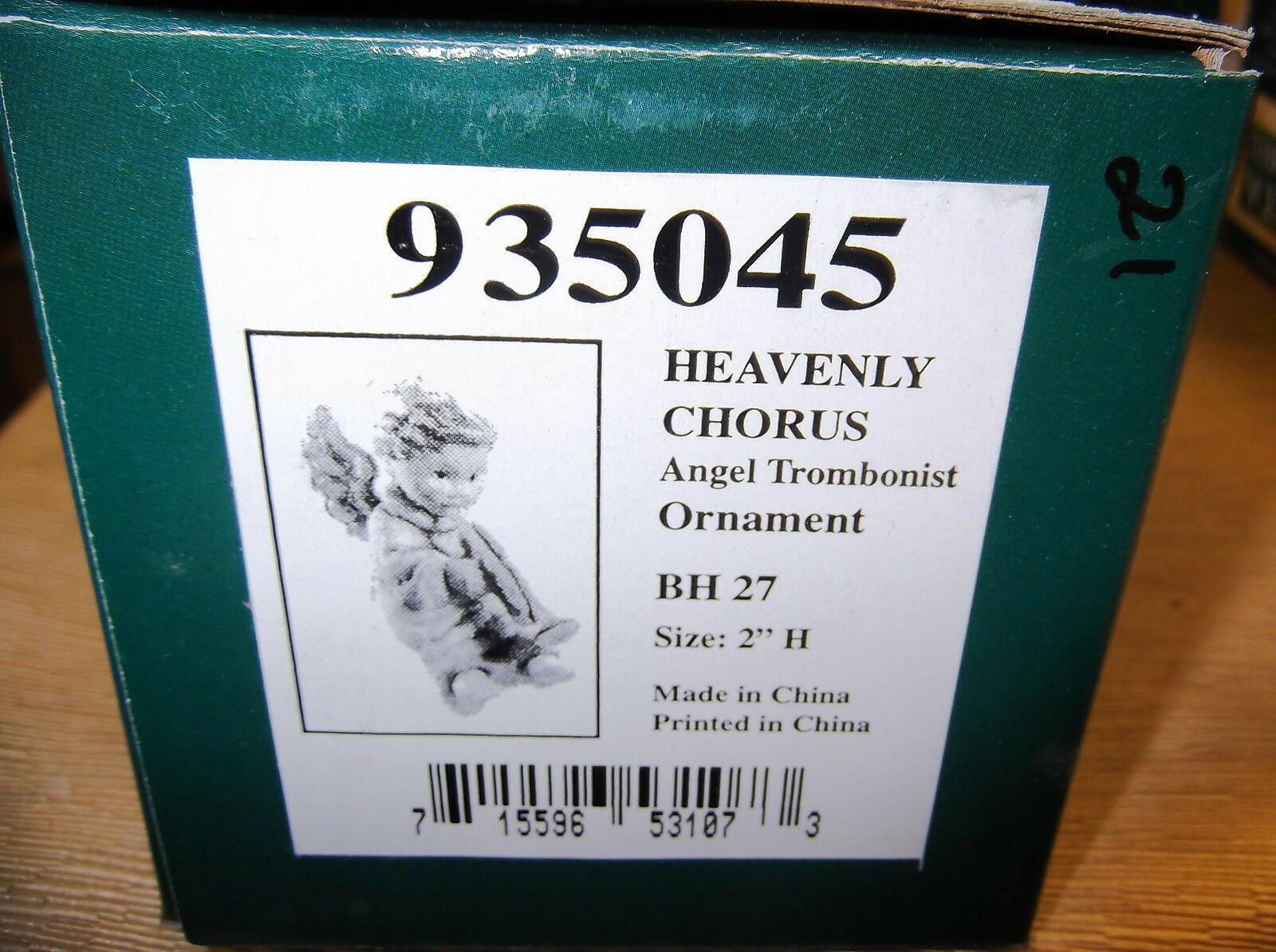 Goebel Berta Hummel Heavenly Chorus Angel Trombonist Ornament #935045