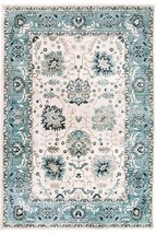 Traditional Transitional Oriental Blue Border Area Rug **FREE SHIPPING** - €52,18 EUR+