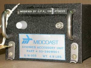 Midcoast Avionics Accessory Unit 03-390w001 +Yellow Tag