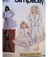 Simplicity 7698 New Daisy Kingdom Girls 6 to 8 Dress Jumpsui - $9.95