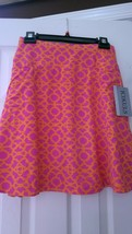 Nwt Ladies Icikuls Ibkul Hot Pink & Orange Flip Skort Golf Tennis Sizes M L Xl - $56.99