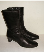 COLE HAAN Women's Italian Brown Leather Dress Zipper Ankle Boots Shoes 6... - $49.99