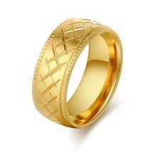 X Mark Stainless Steel Ring Jewelry For Women Gold Color Wedding Engagem... - $13.49