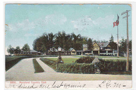 Maryland Country Club Baltimore MD 1907 postcard - $5.94