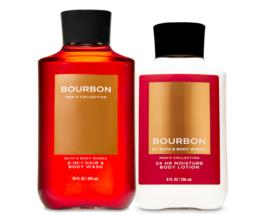 Bath & Body Works Bourbon For Men Body Lotion & 2-in-1 Hair + Body Wash Duo Set - $32.95
