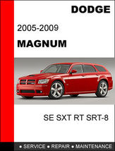 DODGE MAGNUM 2005 - 2009 FACTORY SERVICE REPAIR WORKSHOP SHOP MANUAL - $14.95