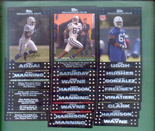 2007 Topps Indianapolis Colts Football Team Set