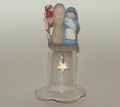 Christmas Jesus Mary Joseph Holy Family Nativity Figurine Glass Bell - $7.00