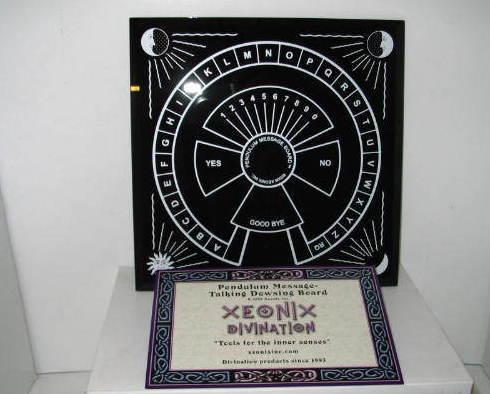 "Pendulum Dowsing - Message / Talking Glass Board 8"" x 8"""
