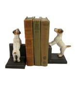 JACK RUSSELL CAST IRON BOOKENDS Collectable Heavy Fox Terrier Dog Book E... - $52.95