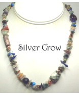 Mixed Gemstone Chip Necklace and Earring Set - $18.99
