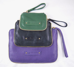 Linea Pelle Dylan Zip Cosmetic Cases Set of Three AMETHYST NWT - $123.85