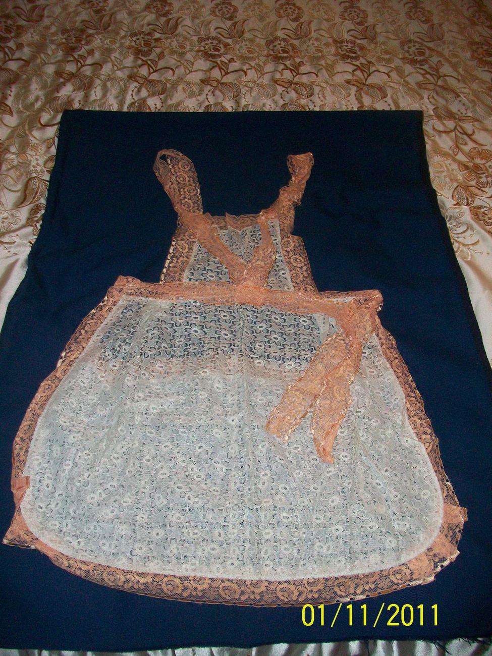 vintage guipure apron brand new