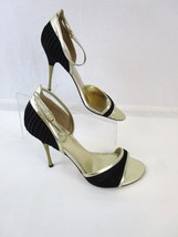 Guess By Marciano Opulent Black Gold Metallic Stiletto Heels Size 8.5 Shoes  - $19.00