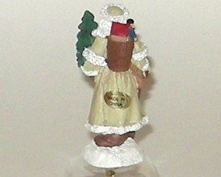 Father Christmas Santa Claus Kris Kringle Old Fashioned Figurine Glass Bell