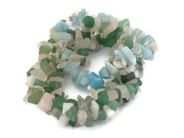 Lot/2 Natural Stone Gemstone Freeform Chip Bead Stretchy/Screw Hook Brac... - $9.68