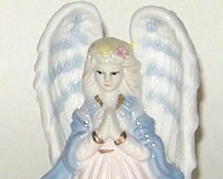 Hand Painted Ceramic Porcelain Glazed Blue White Angel Bell