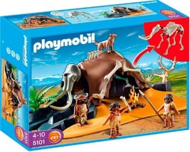 Playmobil 5101 Mammoth Skeleton Tent with Cavemen New Sealed - $175.08
