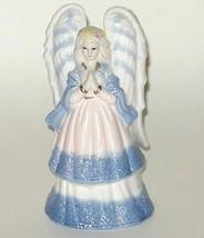 Hand Painted Ceramic Porcelain Glazed Blue White Angel Bell - $9.00